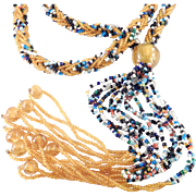 Flapper Style Seed Bead Sautoir Rope Necklace