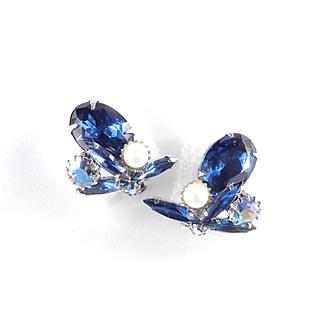 D & E Juliana Rhinestone Faux Pearl Earrings