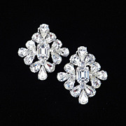 Large Rhinestone Earrings