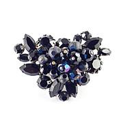 Regency Jewels Rhinestone Glass Bead Brooch Pin