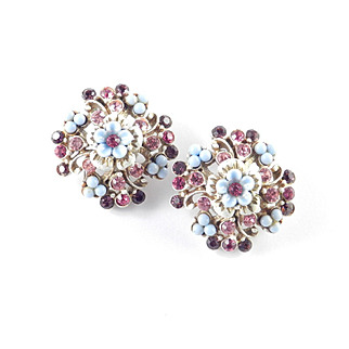 Florenza Bead Rhinestone Earrings