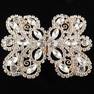 DeLizza & Elster Juliana Rhinestone Belt Buckle