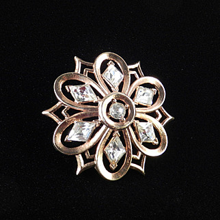 Trifari Rhinestone Brooch Pin