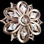 Trifari Rhinestone Brooch Pin