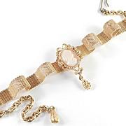 Florenza Glass Cameo Mesh Choker Necklace