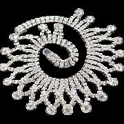 Rhinestone Bib Collar Necklace