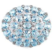 Art Deco Era Large Rhinestone Art Glass Brooch Pin Pot Metal