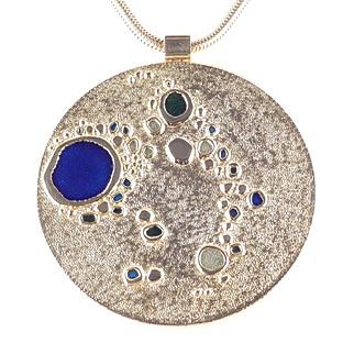 de Passille - Sylvestre Modernist Enamel Pendant Necklace