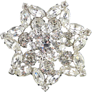 Weiss Dentelle Rhinestone Star Brooch Pin
