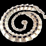 Lisner Baguette Rhinestone Necklace