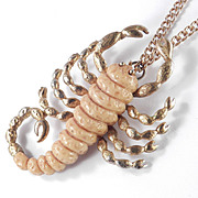 Luca Razza Molded Resin Scorpion Pendant Necklace
