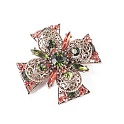Emmons Rhinestone Maltese Cross Brooch Pin