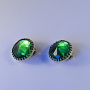 Hattie Carnegie Rivoli Rhinestone Earrings