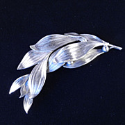 Joseff of Hollywood Leaf & Berry Brooch Pin