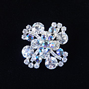 Juliana D & E Delizza Elster Rhinestone Brooch Pin