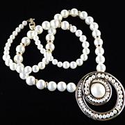 """Napier Vintage """"Pearl Bouquet"""" Faux Pearl Pendant Necklace"""
