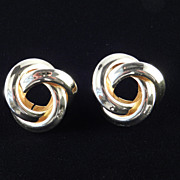 Vintage  Givenchy Concentric Rings Earrings
