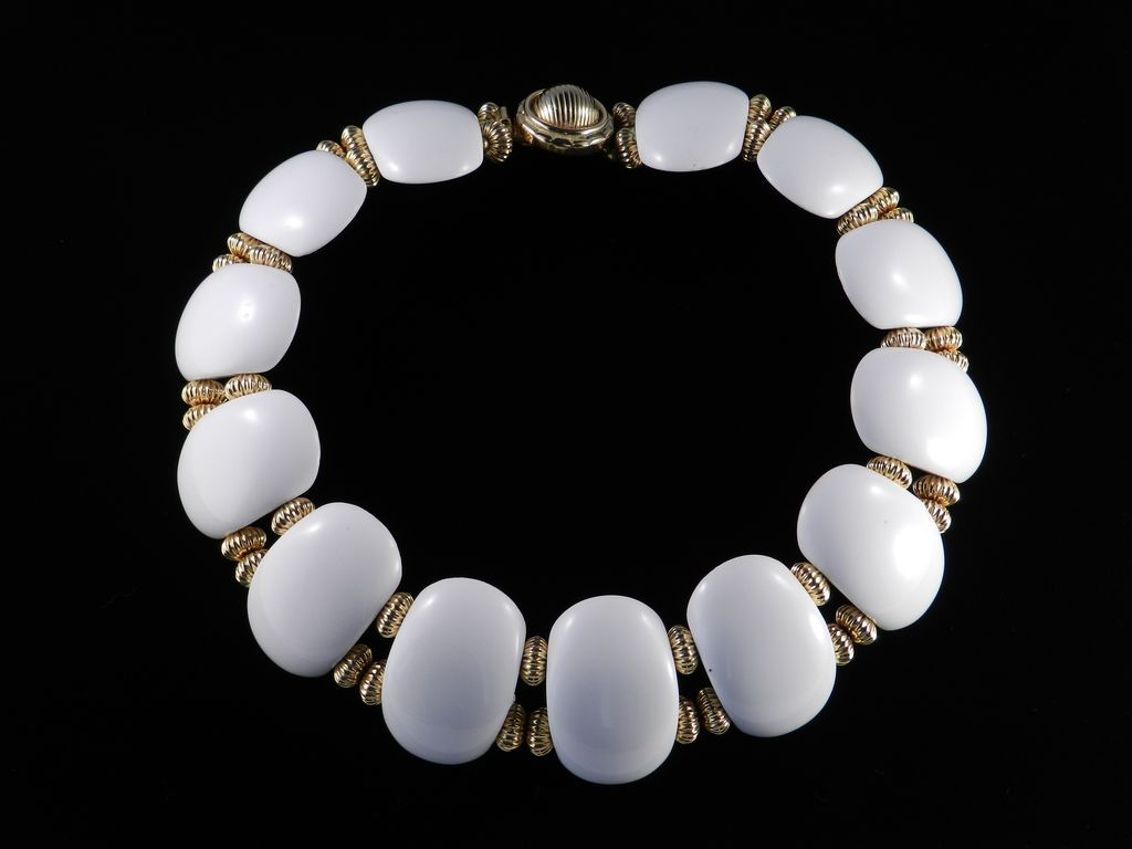 William deLillo Lucite Disk Collar Necklace