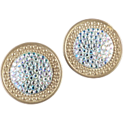 Richard Kerr Rhinestone Shield Earrings