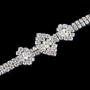 Kramer Sterling Silver Rhinestone Bracelet