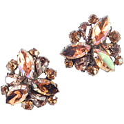 Kramer Domed Rhinestone Earrings