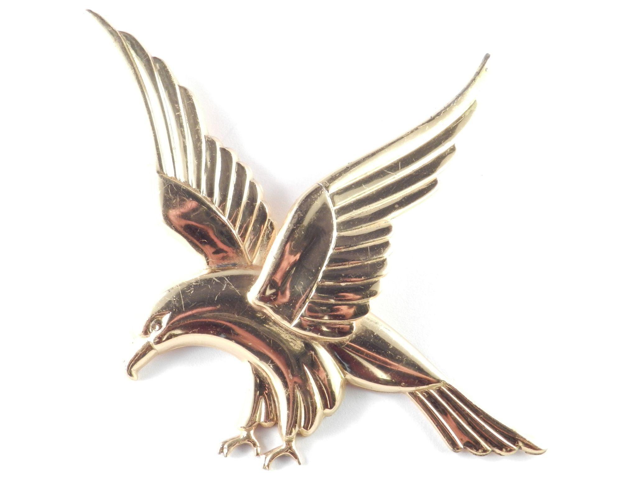 Vintage Coro Sterlingcraft Sterling Silver Eagle Brooch Pin
