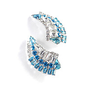 Kramer of NY Rhinestone Layered Climber Earrings