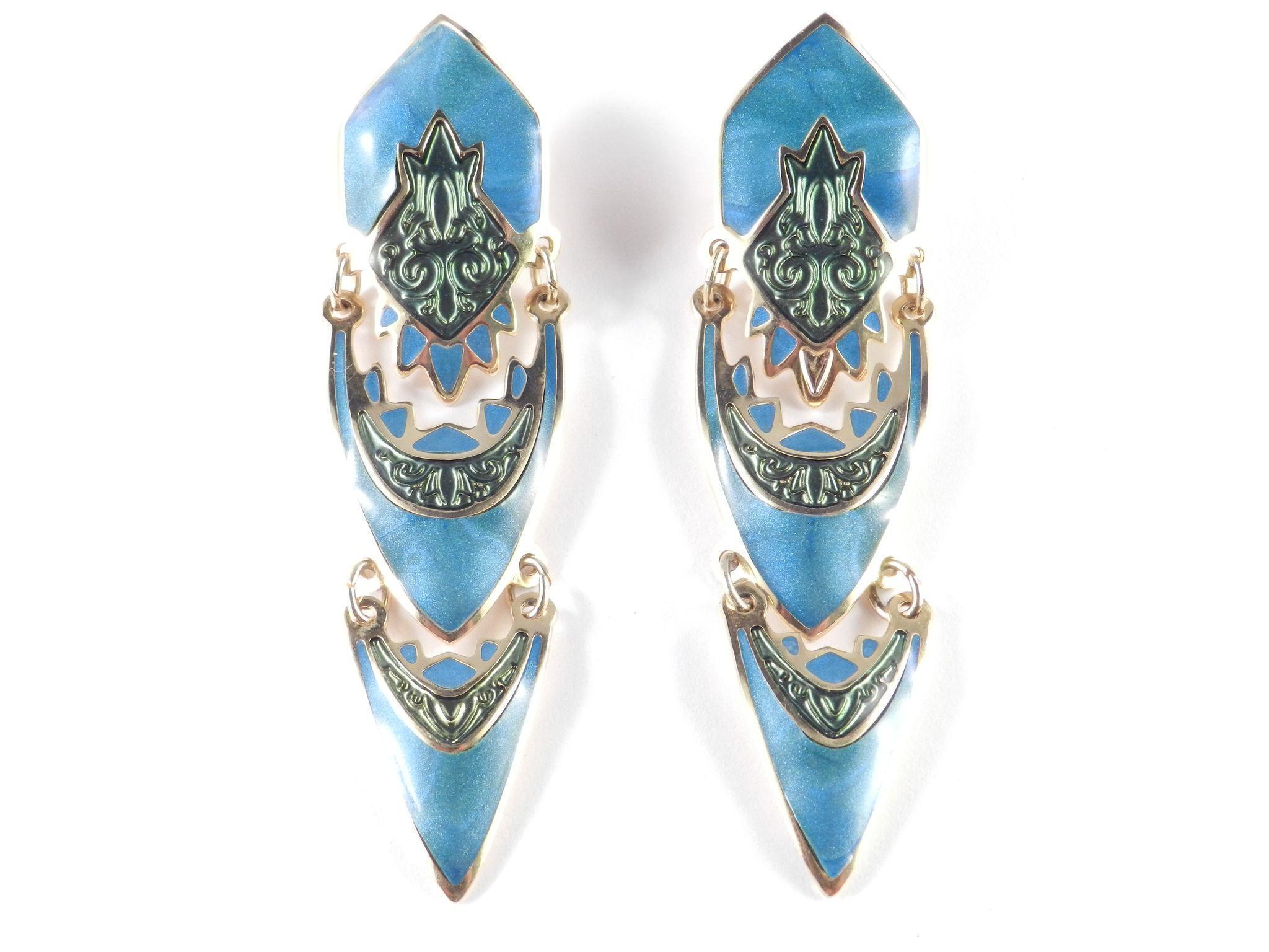 7 Popular Siding Materials To Consider: Edgar Berebi Enamel Dangle Earrings From