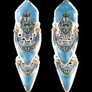 Edgar Berebi Enamel Dangle Earrings