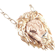 Luca Razza Unsigned Leo The Lion Zodiac Pendant Necklace
