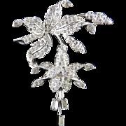 Early Marcel Boucher Rhinestone Flower Brooch Pin