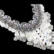 Juliana D & E Rhinestone Glass Bead Bib Necklace Bracelet Demi Parure Set