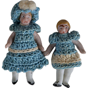 Great Pair of Carl Horn All Bisque Dolls