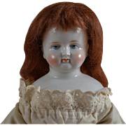 German Biedermeier China Doll - 14.5 Inches Tall