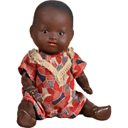 Tiny A.M. Black Rock-a-Bye Baby - 4.75 Inches - All Original