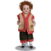 Cute All Bisque Boy - 4 Inches