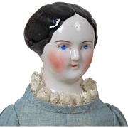 China Lady with Molded Bun - 12.5 Inches