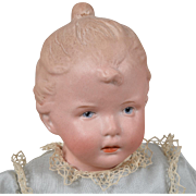 Rare Heubach Character Child with Upswept Hair 12 Inches
