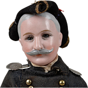 Admiral Dewey Portrait Doll by Cuno & Otto Dressel - 8 inches