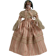 Dollhouse Lady Doll with Molded Hair - 6.25 inches tall