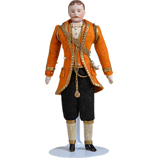 All Original Dollhouse Gentleman - Fabulous Costume - 7.25 inches tall