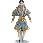Rare Dollhouse Man in Fanciful Outfit with Dresden Trim - 5 inches tall