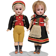 Pair of All Original Kammer & Reinhardt Dolls - 7 Inches