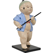Japanese Gofun Figure - 8 Inches