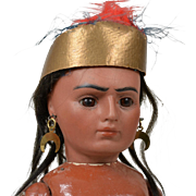 Bahr & Proschild Closed Mouth Native American Doll - 11.5 Inch