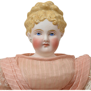 Delicate Parian Doll with Coronet Braid - 12 Inches