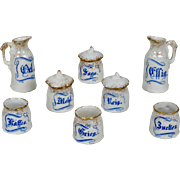 Miniature China Kitchen Canister Set