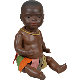 Larger Size Heubach Kopplesdorf South Seas Islander Baby - 15 Inch