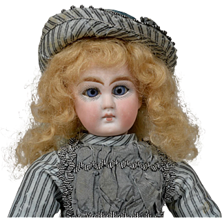 Desirable Tiny Sonneberg Child Doll - 9 Inches Tall