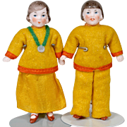 Hertwig All Bisque Pair of Dolls